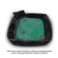 Load image into Gallery viewer, Grey Green - Pet Royale Velvet Cat Bed
