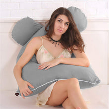 Load image into Gallery viewer, Grey - Coozly Basic Body Contour Pregnancy Pillow