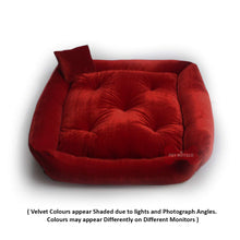 Load image into Gallery viewer, Red - Pet Royale Velvet Cat Bed