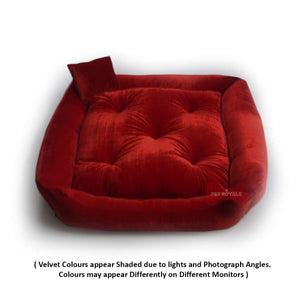 Red - Pet Royale Velvet Cat Bed