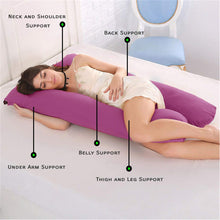 Load image into Gallery viewer, Fuschia Pink - Coozly Basic Body Contour Pregnancy Pillow
