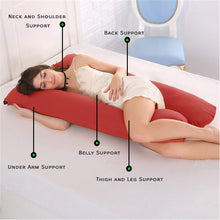 Load image into Gallery viewer, Red - Coozly Basic Body Contour Pregnancy Pillow