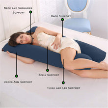 Load image into Gallery viewer, Navy - Coozly Basic Body Contour Pregnancy Pillow