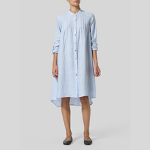 Load image into Gallery viewer, Pintucked Shirt Style Dress