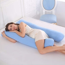 Load image into Gallery viewer, Cyan-Coozly U Basic Pregnancy Body Pillow