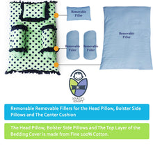 Load image into Gallery viewer, Green Polka - Kradyl Kroft 4 Pc Bedding Set