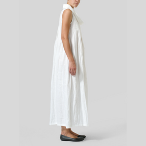 Cowl Neck Dress with pleats