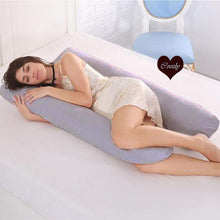 Load image into Gallery viewer, Grey-Coozly U Basic Pregnancy Body Pillow