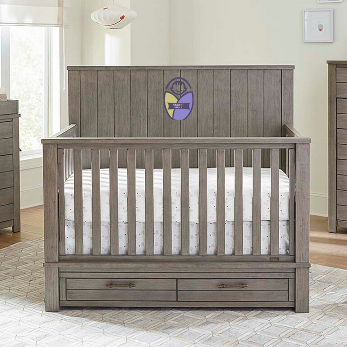 Kradyl Kroft Wooden Crib - Antique Finish