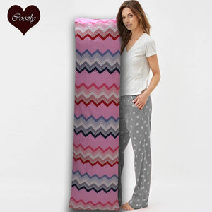 Pink Chevron - Coozly Lumbar Pillow