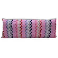 Load image into Gallery viewer, Pink Chevron - Coozly Lumbar Pillow