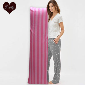 Pink Stripe - Coozly Lumbar Pillow