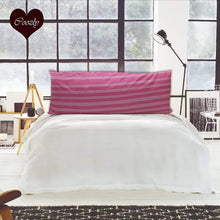 Load image into Gallery viewer, Pink Stripe - Coozly Lumbar Pillow