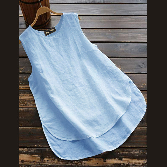 Light Blue Sleeveless Top for Women by Anthem