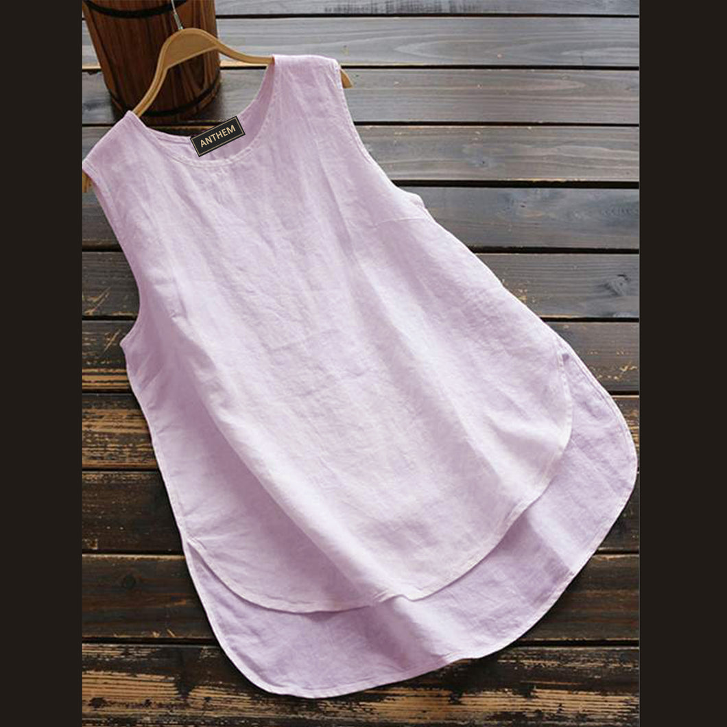 Light Pink Sleeveless Top for Women by Anthem