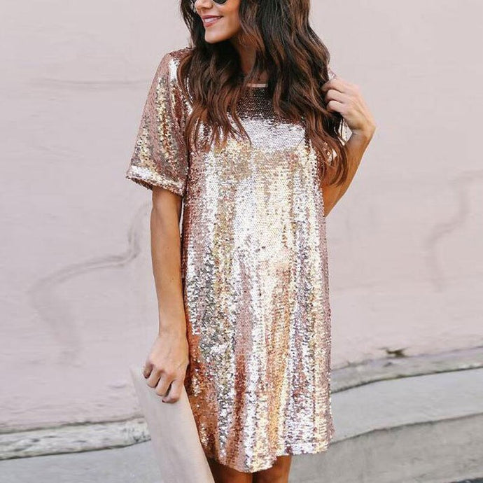 Sequinned Rose Dress