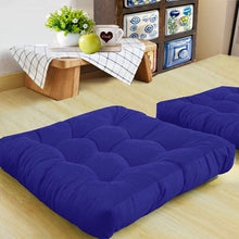 Load image into Gallery viewer, Royal Blue Velvet Floor Cushion