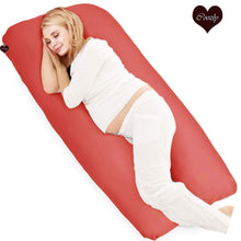 Load image into Gallery viewer, Red-Coozly U Premium LYTE Pregnancy Body Pillow