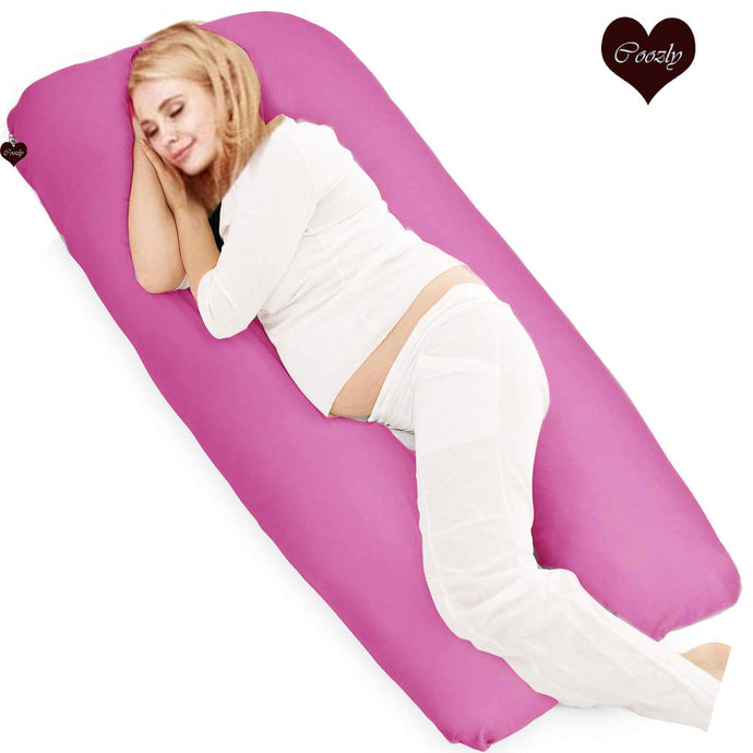 Fuschia-Coozly U Premium LYTE Pregnancy Body Pillow
