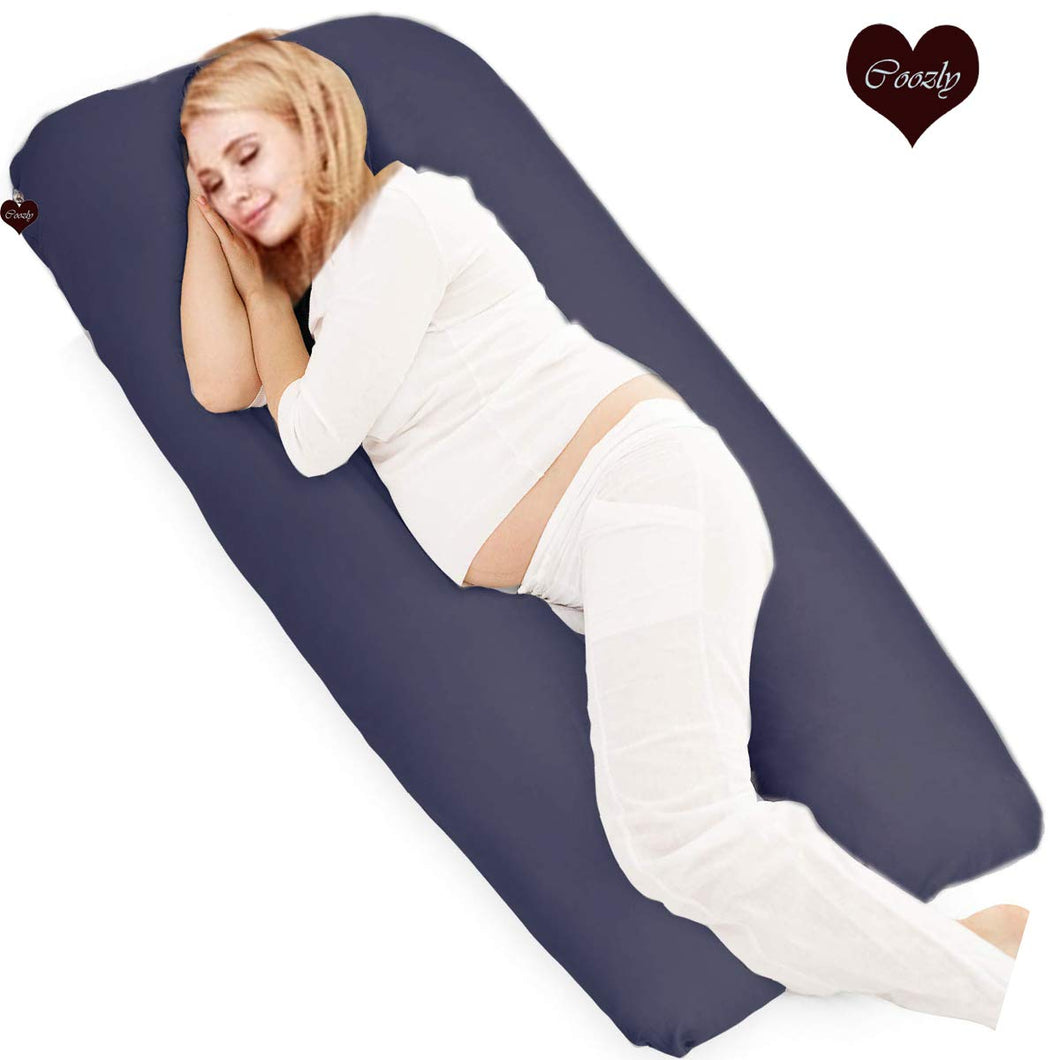 Navy-Coozly U Premium LYTE Pregnancy Body Pillow