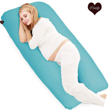 Load image into Gallery viewer, Cyan-Coozly U Premium LYTE Pregnancy Body Pillow