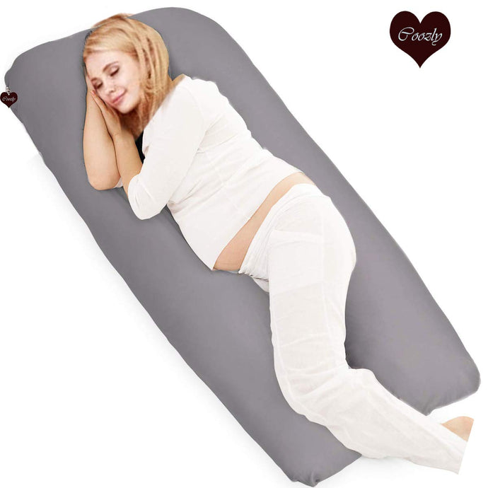 Grey-Coozly U Premium LYTE Pregnancy Body Pillow