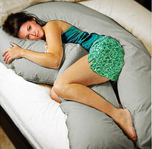 Load image into Gallery viewer, Grey-Coozly U Premium LYTE Pregnancy Body Pillow