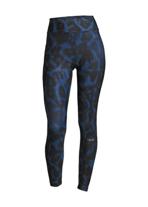 Casall Awake Printed Tights - Passion Blue
