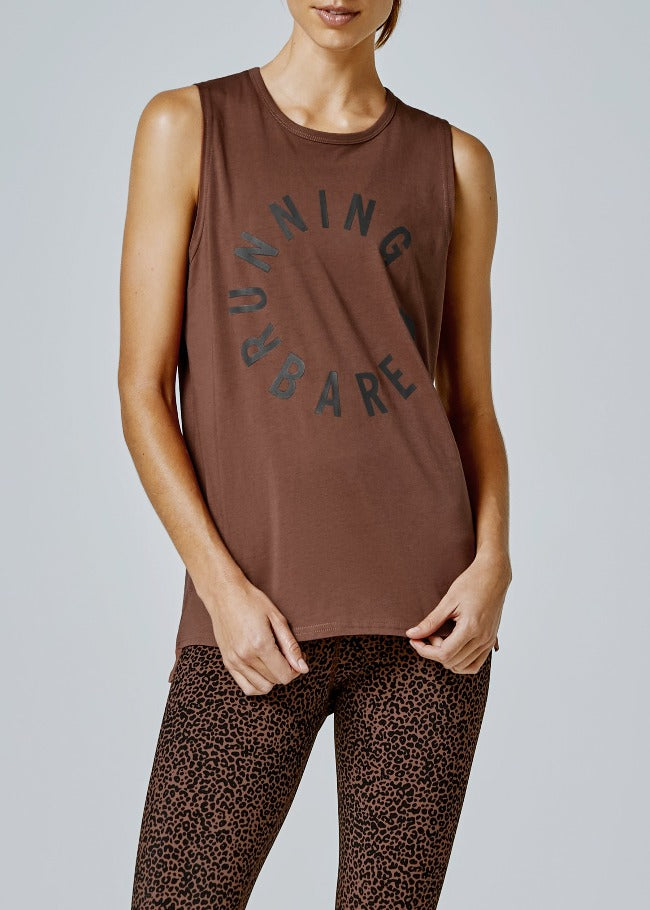 Running Bare Easy Rider Muscle Tank - Chestnut