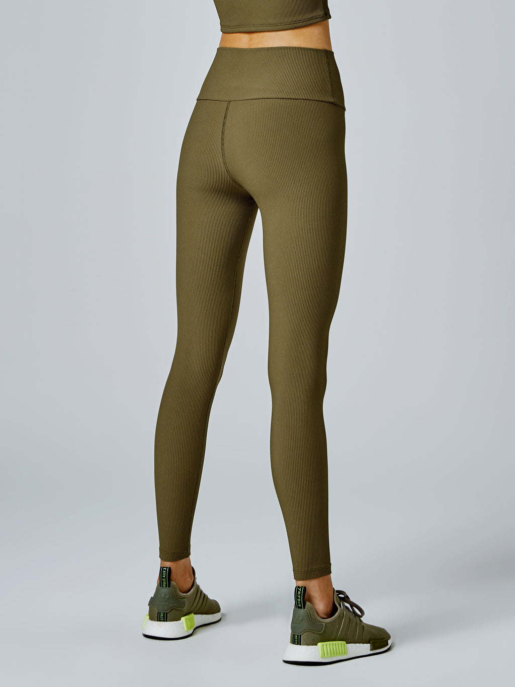 Running Bare Werk It Ab Waist Legging - Camping