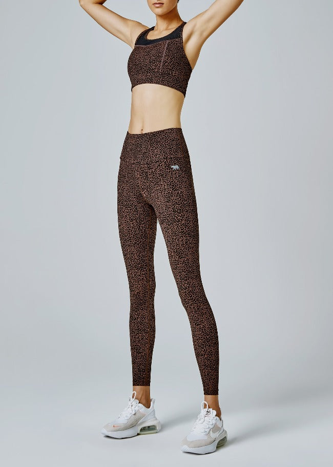 Running Bare Fight Club Ab Waist Legging - Winnie