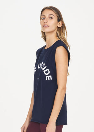 The Upside Muscle Tank - Navy