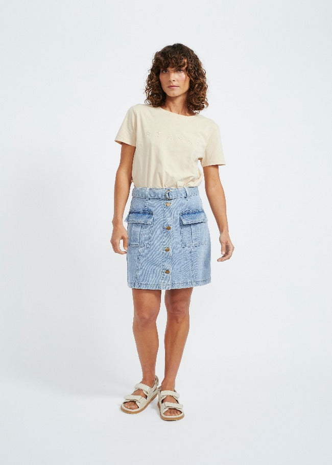 Staple The Label Parker Denim Mini Skirt