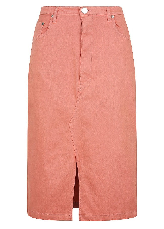 Bande Studio Long Midi Skirt - Faded Rose