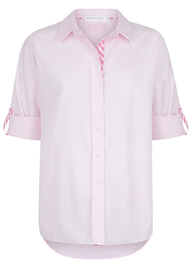Bande Studio Classic Oversize Shirt - pale pink w/ pink gingham