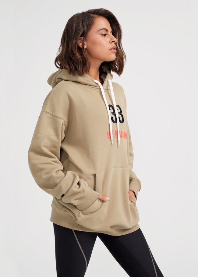 PE Nation Double Team Hoodie - Olive Gray