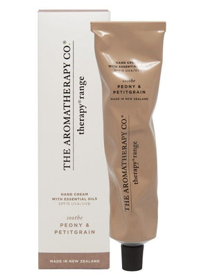 Hand Cream SPF15 75ml SOOTHE Peony and Petitgrain