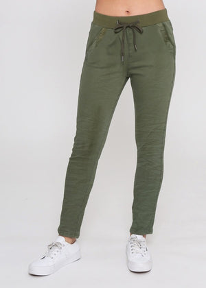 Cooper Cotton Pant - Khaki