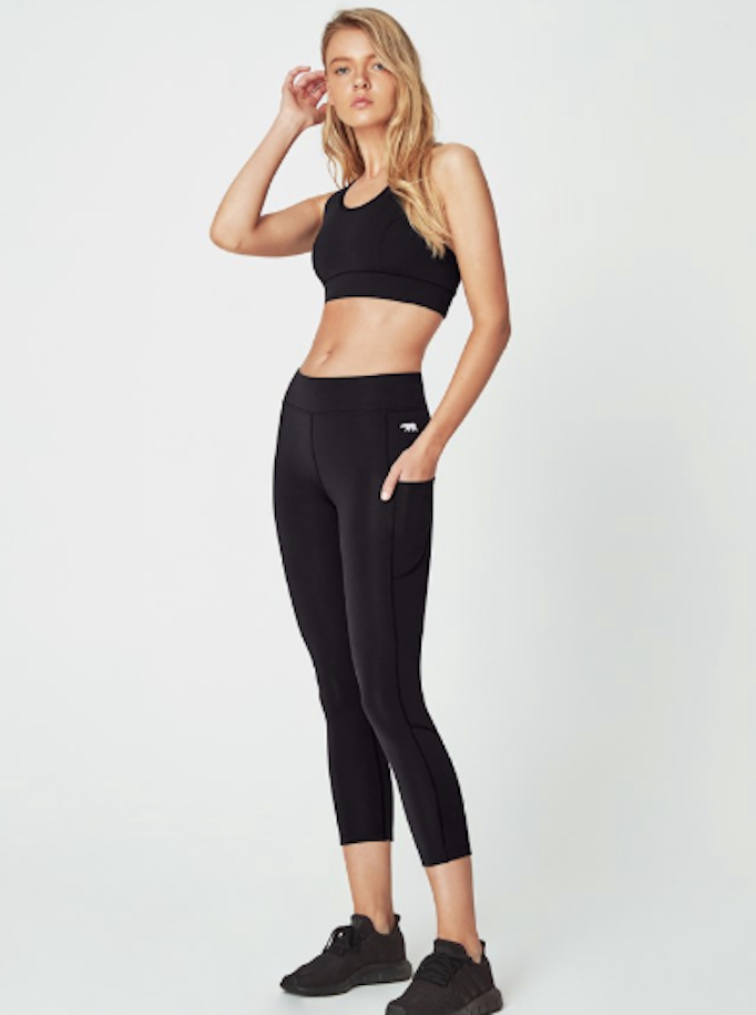 Running Bare Flex Zone 7/8 Leggings - Black