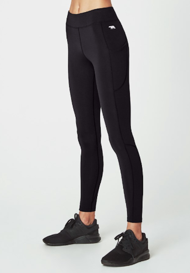 Running Bare Flex Zone Full Length Legging - Black