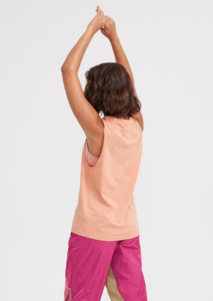 PE Nation Twist Serve Tank - Peach