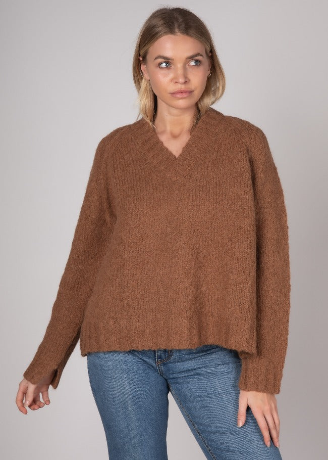 Wool Jumper Toffee colour