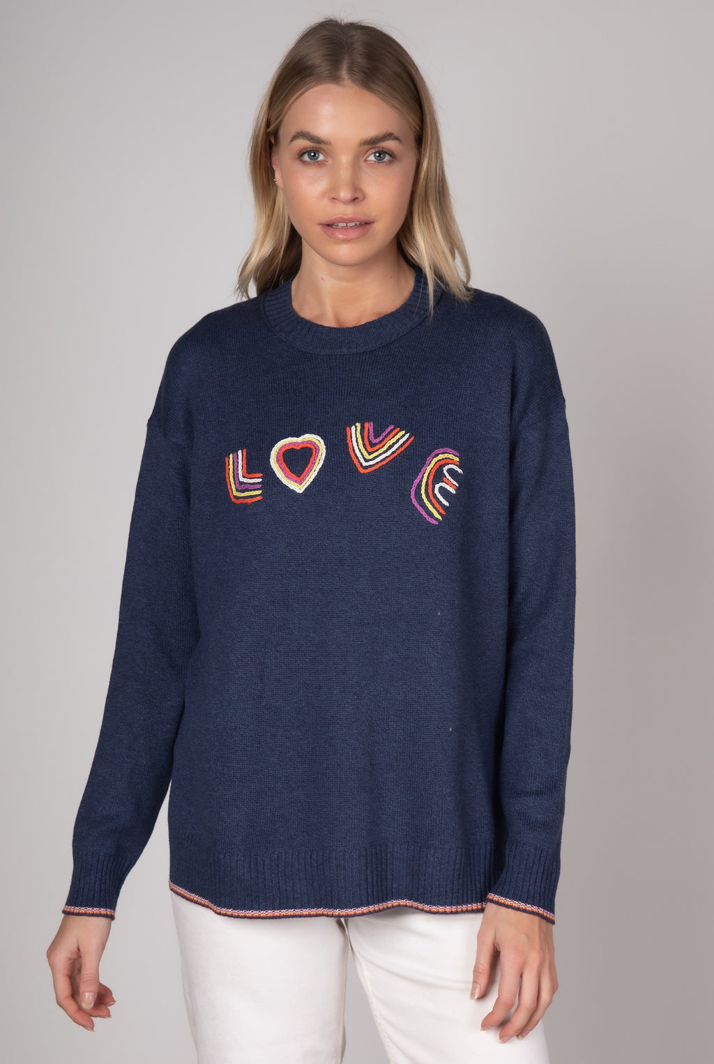 Zaket & Plover  Full of Love knit - Denim