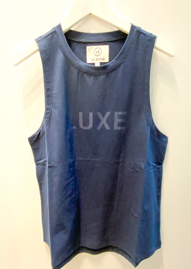 Liv Actve Luxe Muscle Tank - Navy