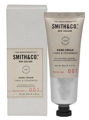Smith & Co 80ml Hand Cream - Tabac & Cedarwood