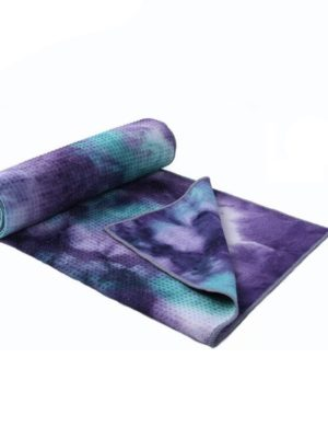 Non Slip Yoga Towel - Purple Tie Dye