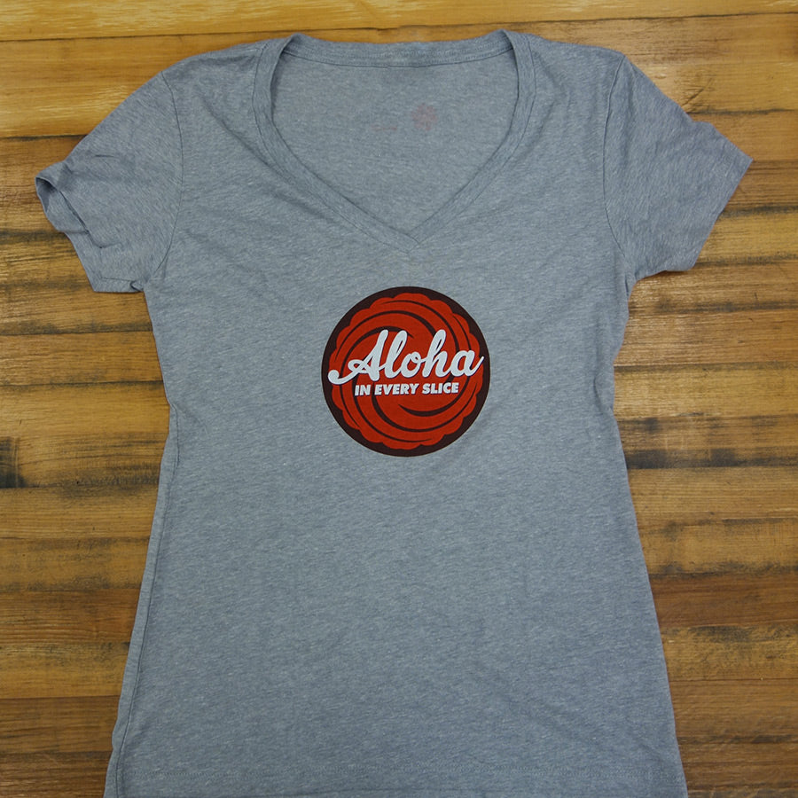 Women's Aloha in Every Slice V-Neck Shirt