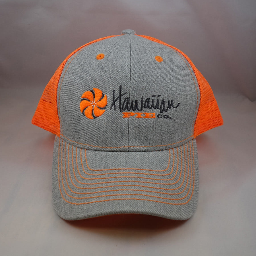 Grey & Orange Trucker Hat