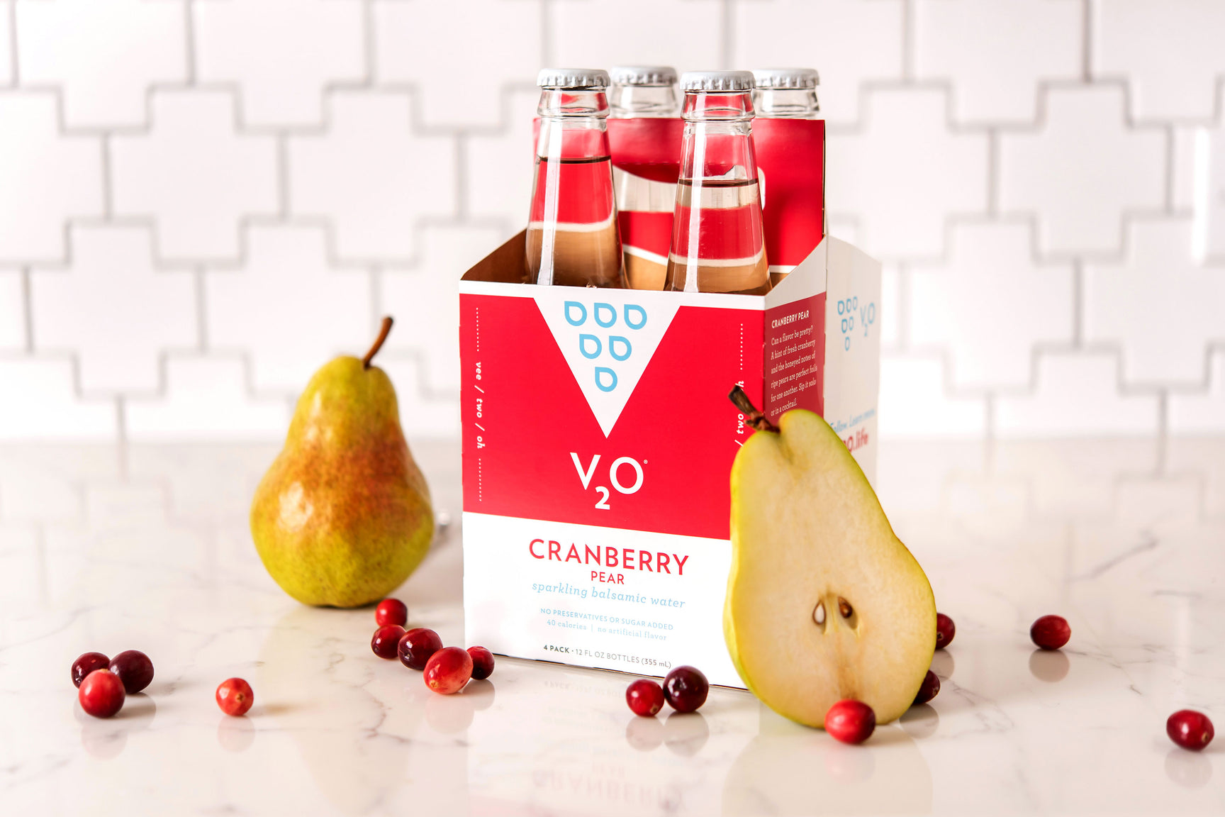 V20 Cranberry Pear with pears
