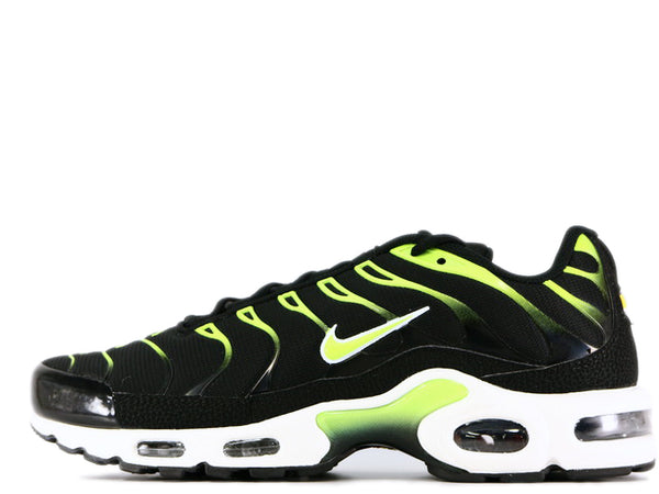 "Air Max Plus ""Black/Volt"" with White and Platinum-tint   852630-037"